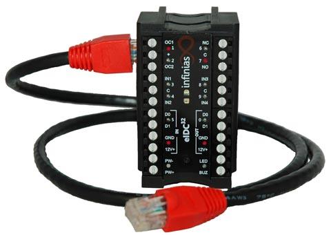 Sistema de control de acceso sobre IP PoE