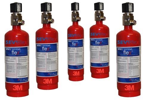 Sistema de extinción de incendios en aplicación local