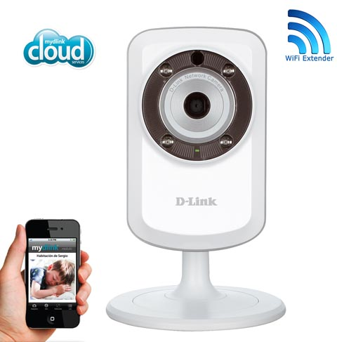 Cámara de video vigilancia función de repetidor Wi-Fi