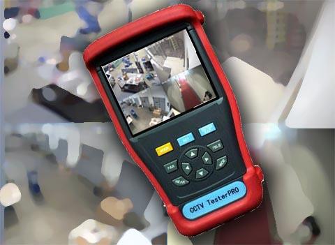 Tester de seguridad CCTV portátil y multifuncional