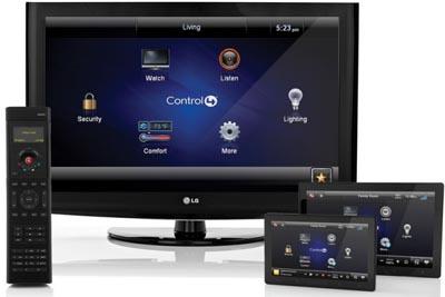 Grabador NVR Touch con Control4 remoto