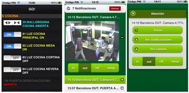 Web para vídeo vigilancia y domótica