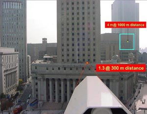 Ejemplos de diámetros de los rayos