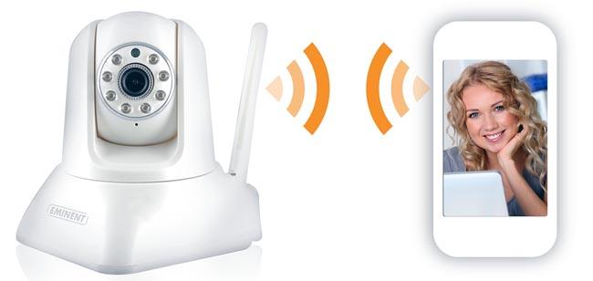 Cámara IP con control de movimiento