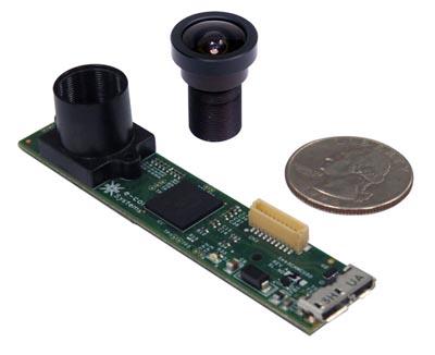 Cámara USB 5 Mpx con soporte para objetivo M12