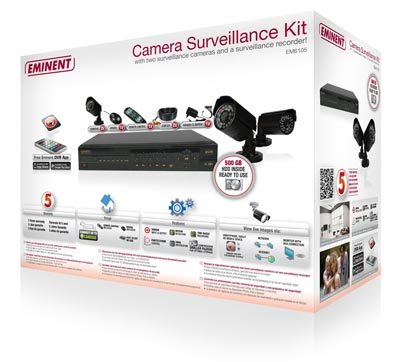 Kit de videovigilancia plug and play