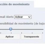 Menú de detección de movimiento