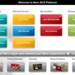Nero 2015 menú inicial de arranque