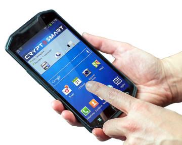 Smartphone seguro con software de encriptación