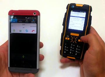 app walkie talkie con un Smartphone