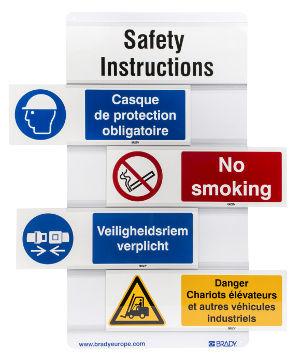 Portaobjetos para señales de seguridad