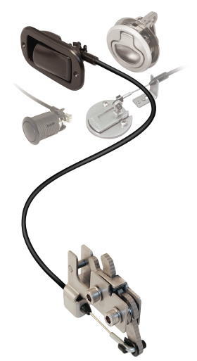 Componentes de un cierre giratorio