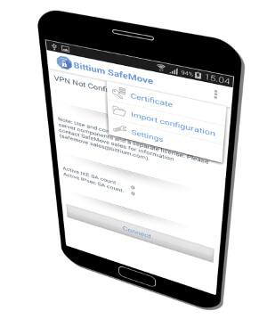 Solución de software de seguridad con interfaz para dispositivos táctiles