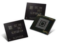 Memorias Flash Universal Embebidas (eUFS) de 512 GB