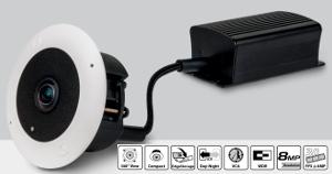Cámara ojo de pez IP de 360 grados