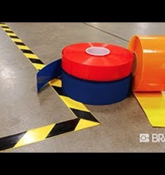 Cintas marcadoras de zonas en el suelo