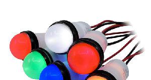 Indicadores LED semidomo