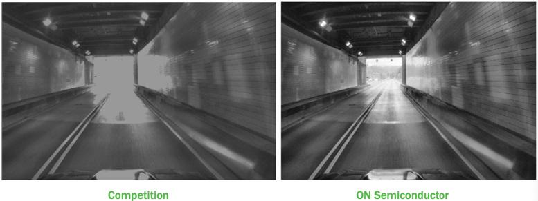 Figura 2: Comparación entre rangos dinámicos; obsérvese que en la imagen de la izquierda se pierden detalles en el fondo del túnel.