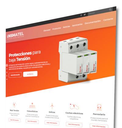 Web de productos de protección