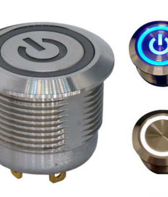 Botón pulsador antivandalismo con iluminación LED