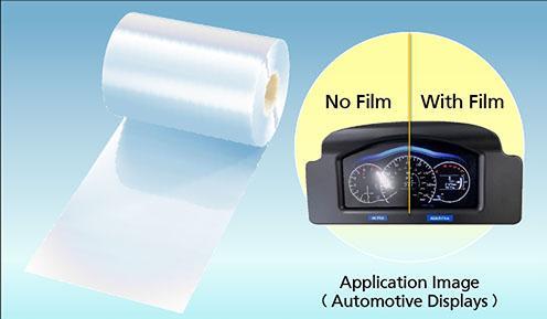 Película antirreflejo para pantallas de automóvil