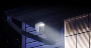 Cámaras inalámbricas con foco de luz, alarma y lente motorizada