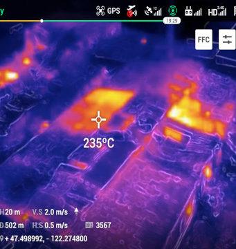 Drones con visión térmica para operaciones críticas