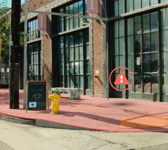 Smart Sidewalk Protection Sistema de protección de acera para vehículos de movilidad personal